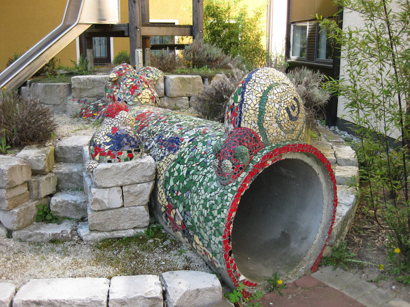 Hk skulpturen erste beton mosaik skulpturen - Garten mosaik ...